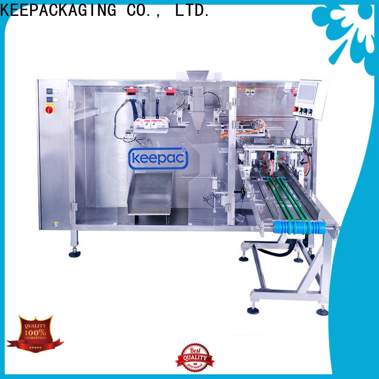 Keepac quick release stand up pouch packing machine for business for zipper bag