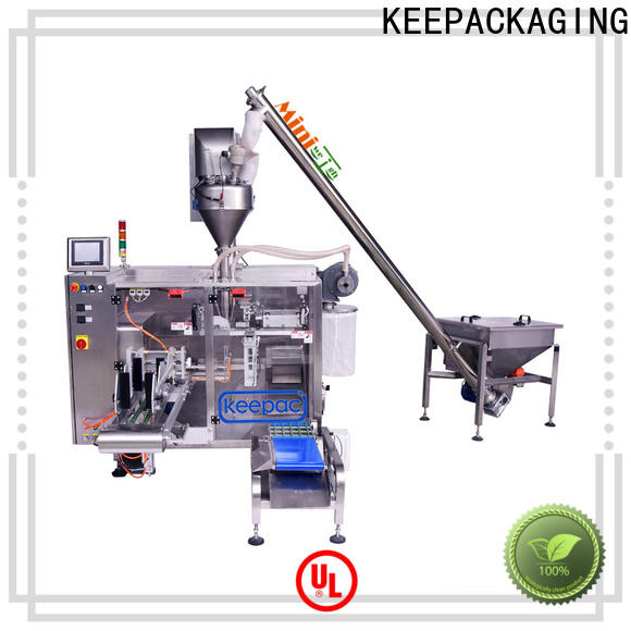 Keepac staight flow design horizontal form fill seal machine company for food