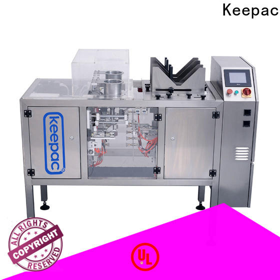 Keepac stainless steel 304 chips packaging machine for business for pre-openned zipper pouch