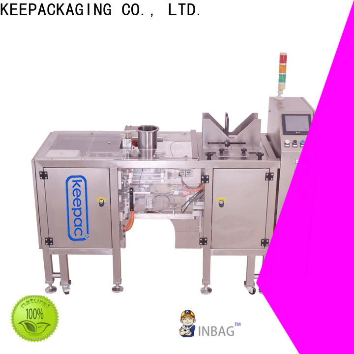 Keepac Custom mini doypack machine factory for pre-openned zipper pouch