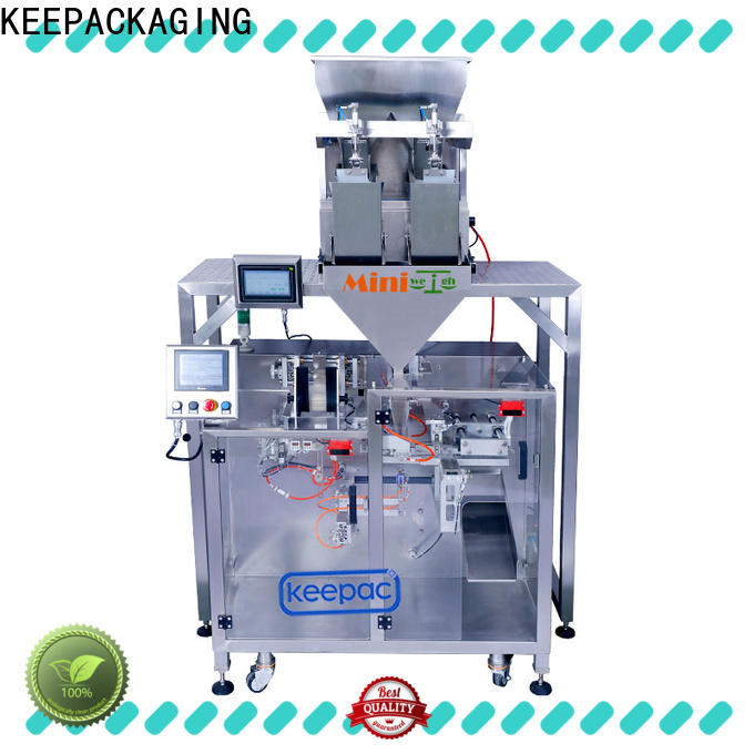 Keepac staight flow design powder pouch packing machine manufacturers for standup pouch