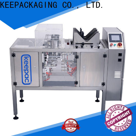 Keepac quick release food packaging machine factory for pre-openned zipper pouch
