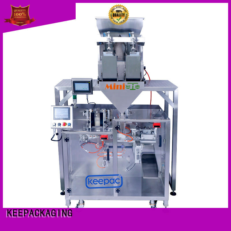 duplex automatic form fill seal machines linear for standup pouch Keepac