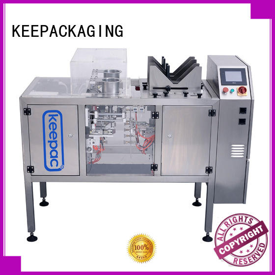 Keepac stainless steel 304 automatic grain packing machine manufacturing for pre-openned zipper pouch