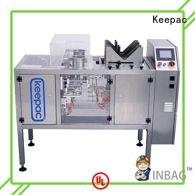 Keepac quick release chips packaging machine wholesale for pre-openned zipper pouch