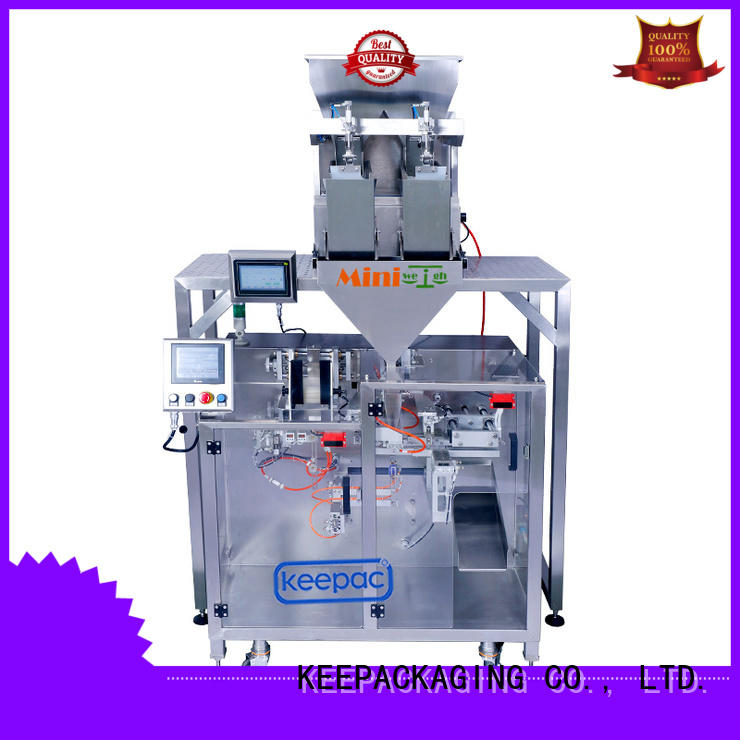 Keepac staight flow design powder pouch packing machine design for standup pouch