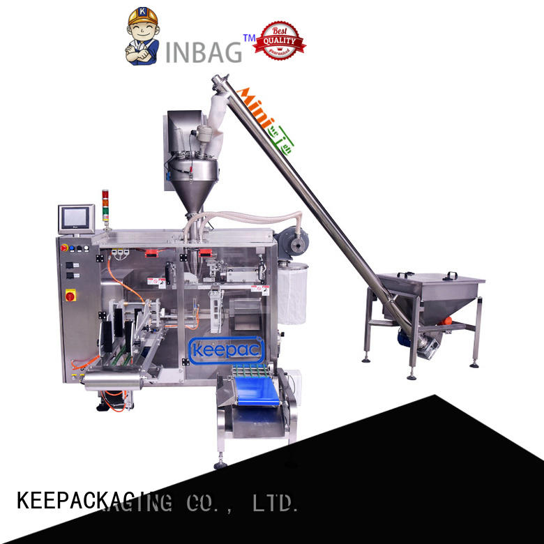 Keepac 8 inches horizontal form fill seal machine factory for zipper bag