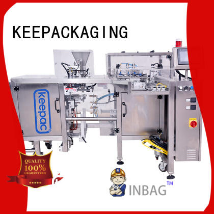 Keepac adjustable grain packing machine factory direct for pre-openned zipper pouch