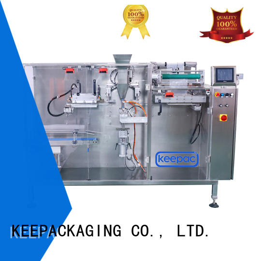 Custom tube corner horizontal packing machine Keepac pouch