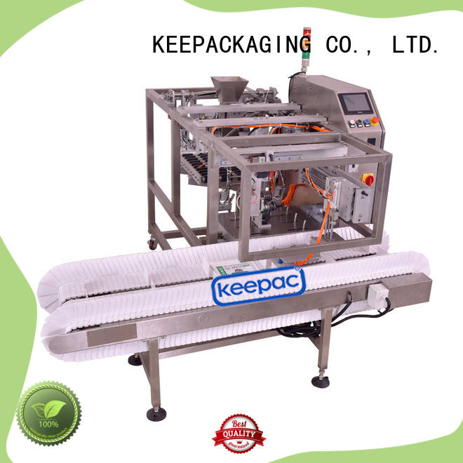 Keepac stainless steel 304 automatic grain packing machine customized for pre-openned zipper pouch