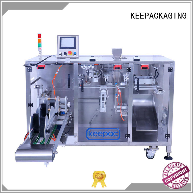 Keepac linear horizontal form fill seal machine wholesale for zipper bag