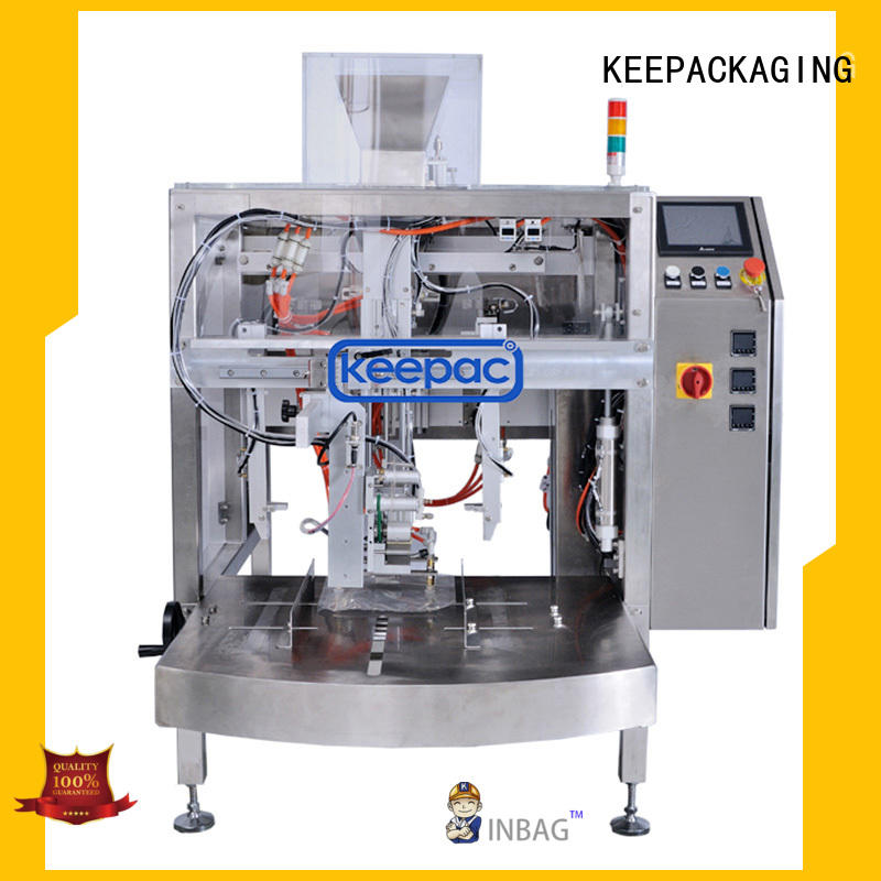 Keepac professional doypack machine factory direct for pre-openned zipper pouch