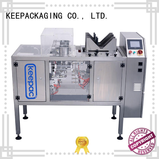 Keepac automatic doypack machine customized for pre-openned zipper pouch