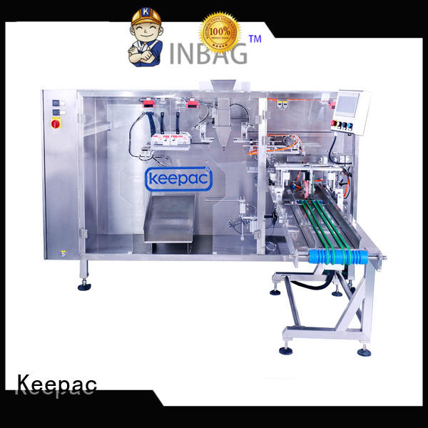Keepac heavy duty stand up pouch packing machine design for 3 sides sealed pouch