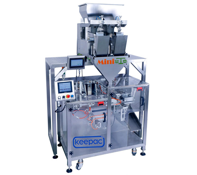 Keepac professional automatic powder packing machine staight flow design for standup pouch-1