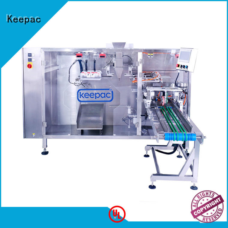 Keepac 8 inches automatic pouch packing machine company for zipper bag
