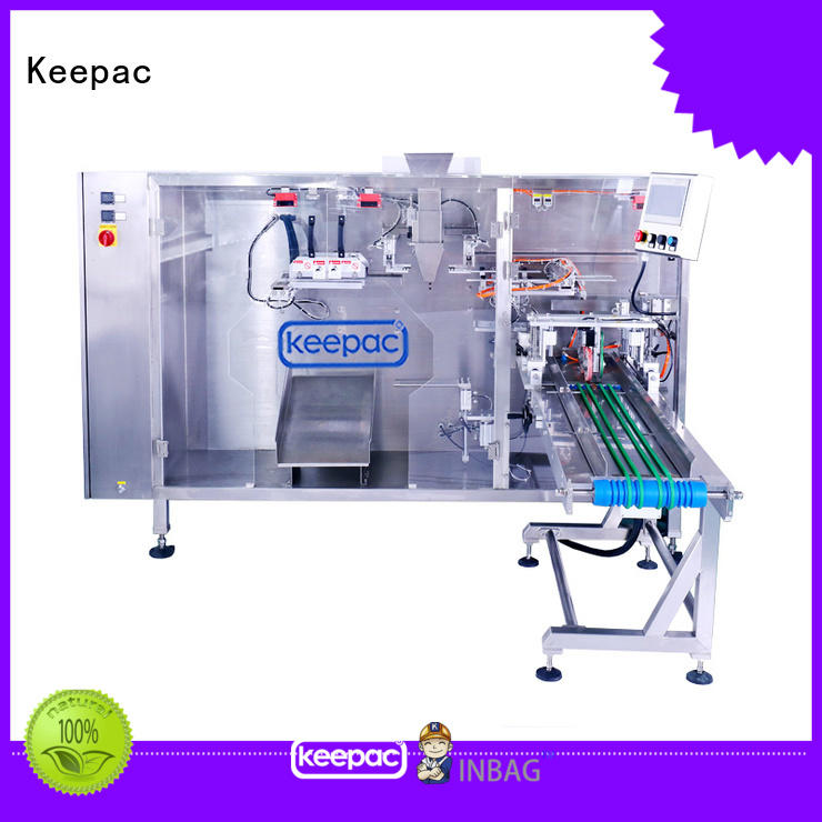 Keepac quick release water pouch packing machine design for zipper bag