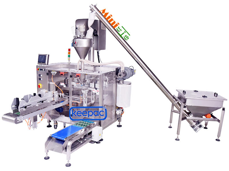 powder packing machine duplex for zipper bag Keepac-2