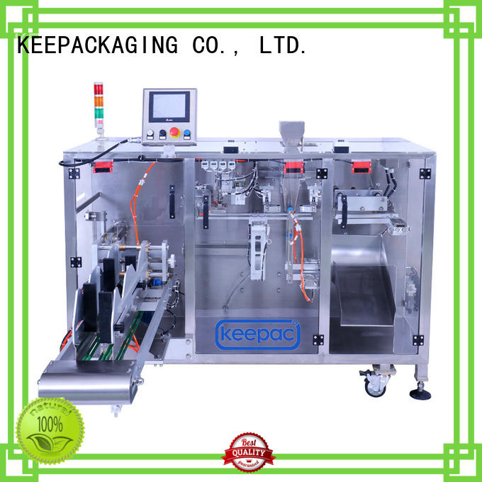 Keepac staight flow design form fill seal machine company for food