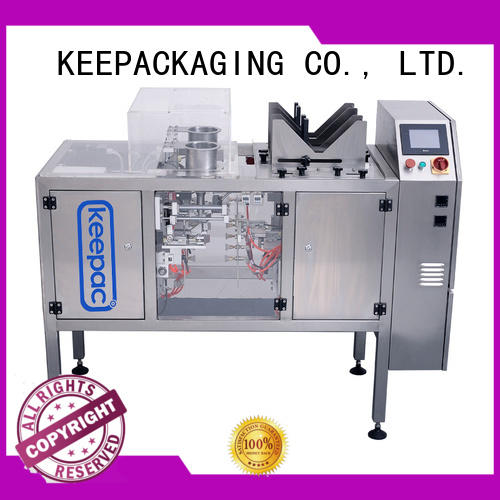 Keepac mini chips packaging machine customized for pre-openned zipper pouch