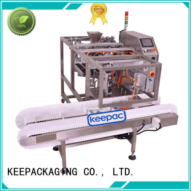 Keepac low cost automatic grain packing machine factory direct for pre-openned zipper pouch