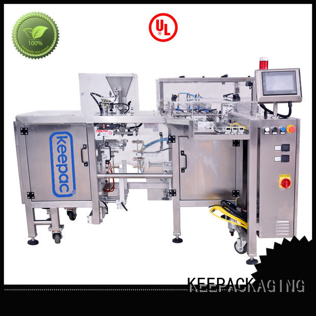 Keepac quick release chips packaging machine customized for pre-openned zipper pouch