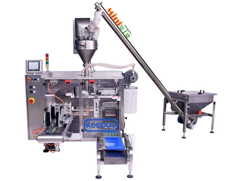 powder packing machine duplex for zipper bag Keepac-1