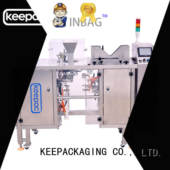Keepac adjustable mini doypack machine manufacturing for pre-openned zipper pouch
