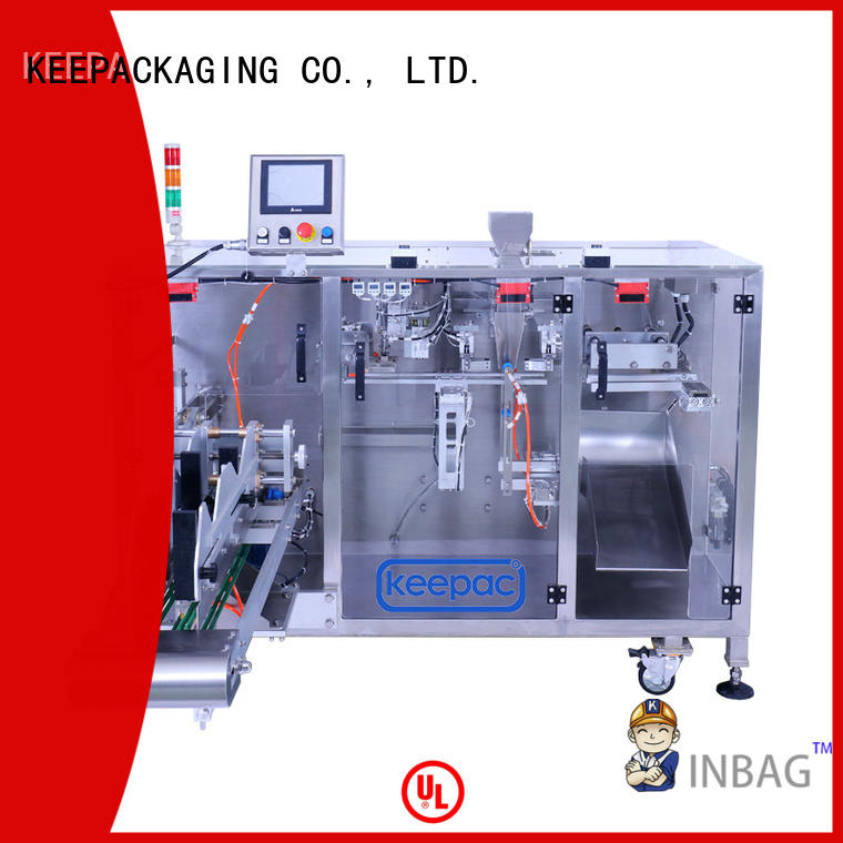 Keepac duplex horizontal form fill seal machine manufacturers for zipper bag