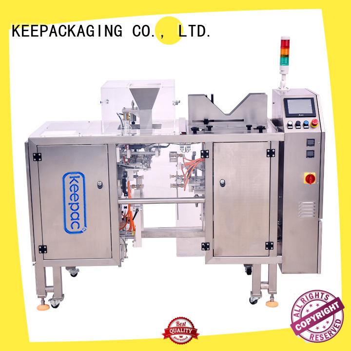 automatic food packaging machine quick release customized for pre-openned zipper pouch