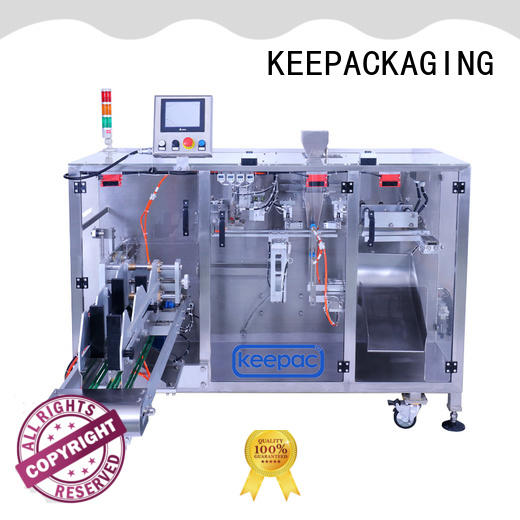 Keepac staight flow design seal packing machine manufacturers for standup pouch