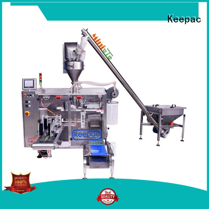 plastic packaging machine staight flow design for zipper bag Keepac
