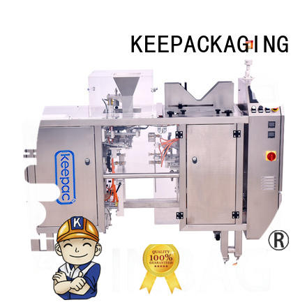 Keepac adjustable doypack packaging machine stainless steel 304 for pre-openned zipper pouch