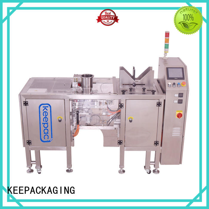Keepac different sized grain packing machine manufacturers for pre-openned zipper pouch