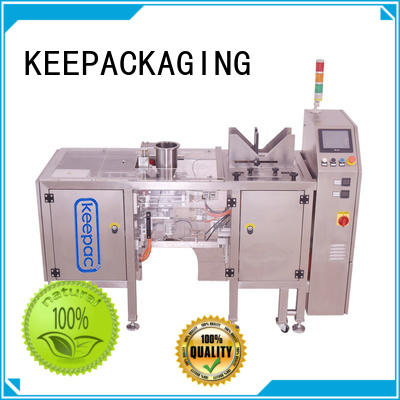 mini food packaging machine manufacturing for pre-openned zipper pouch Keepac