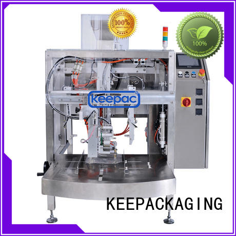 Keepac efficient automatic grain packing machine manufacturing for pre-openned zipper pouch