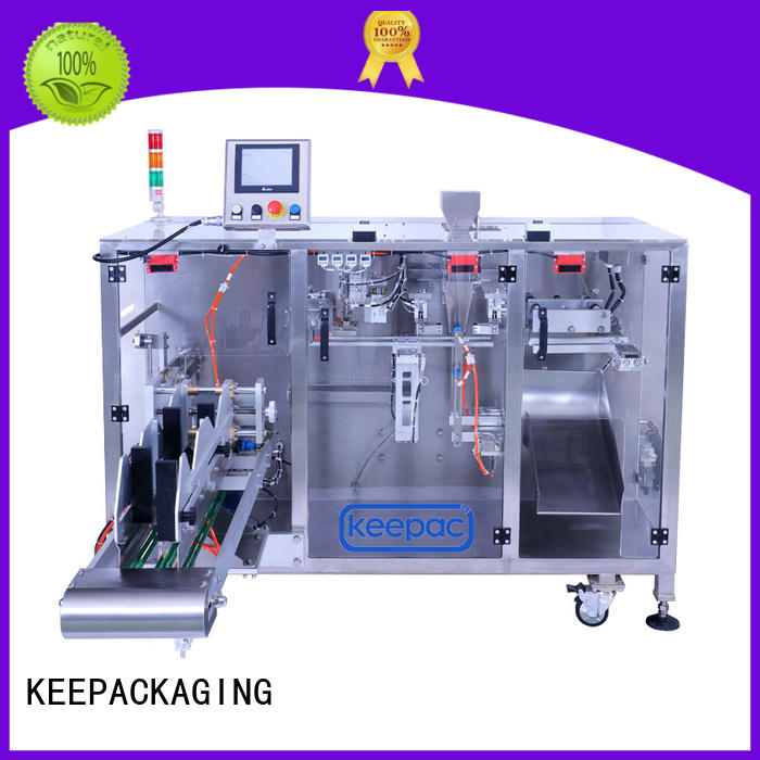 Keepac staight flow design horizontal form fill seal machine supplier for food