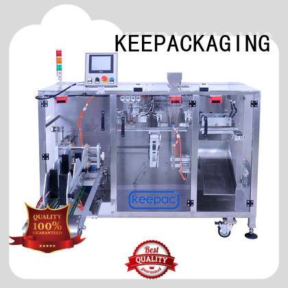chocolate packing machine staight flow design for standup pouch Keepac