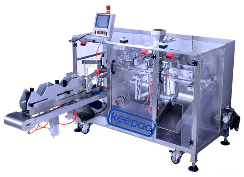 Keepac duplex horizontal form fill seal machine design for zipper bag-2