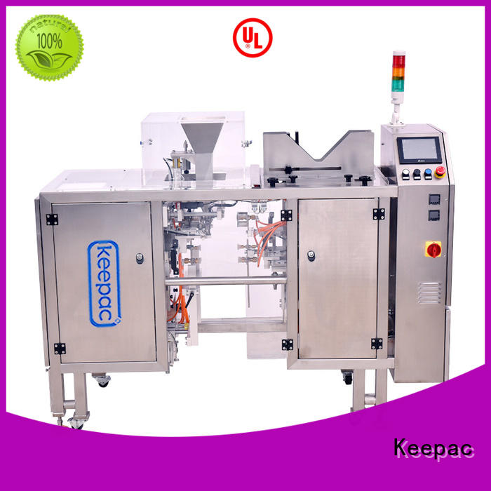 Keepac different sized food packaging machine customized for pre-openned zipper pouch