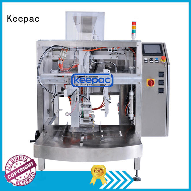 Keepac stainless steel 304 grain packing machine factory direct for pre-openned zipper pouch