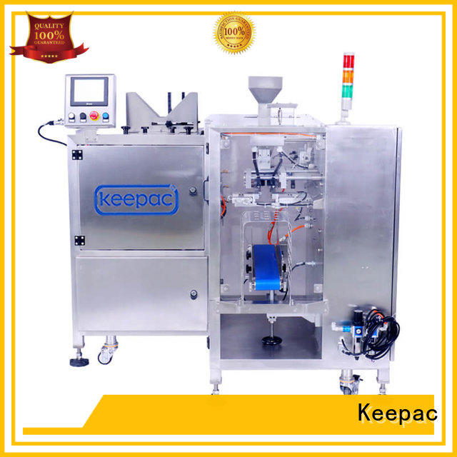 Keepac mini food packaging machine factory for pre-openned zipper pouch