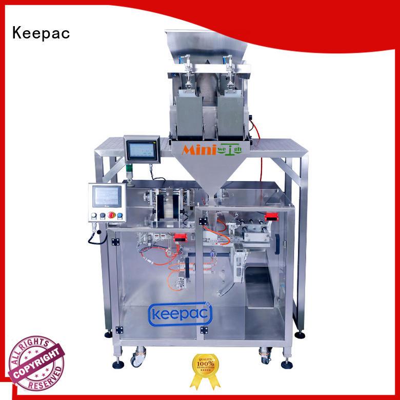 staight flow design powder packing machine manufacturer for zipper bag Keepac