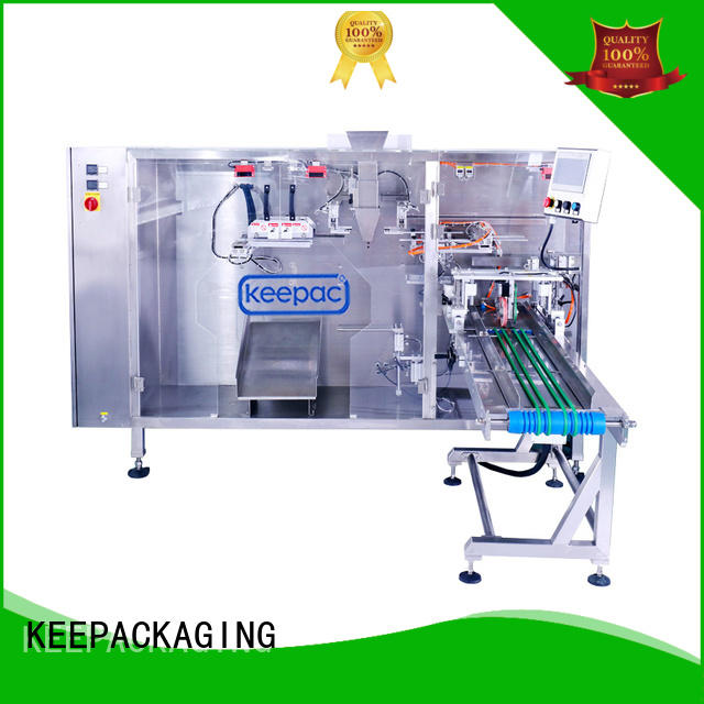 popcorn packaging machine easy to clean for 3 sides sealed pouch Keepac