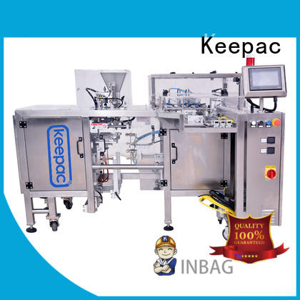Keepac multi bag format food packaging machine customized for pre-openned zipper pouch