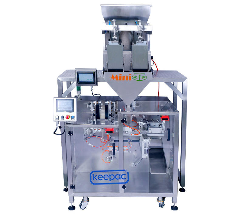 Keepac professional automatic powder packing machine staight flow design for standup pouch-2