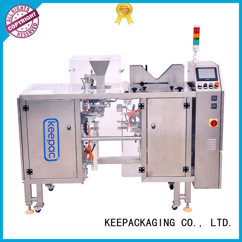 Keepac stainless steel 304 chips packaging machine Supply for pre-openned zipper pouch