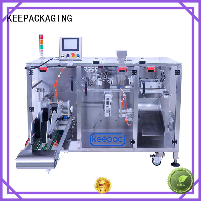 Keepac duplex horizontal form fill seal machine design for zipper bag