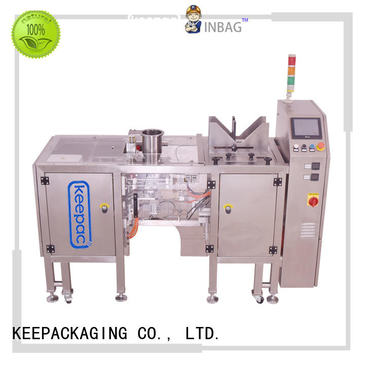 Keepac different sized snack food packaging machine manufacturing for beverage