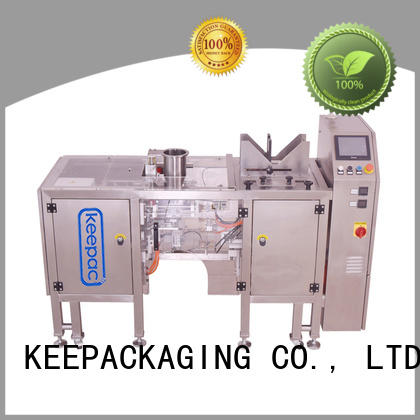 Keepac stainless steel 304 snack food packaging machine wholesale for pre-openned zipper pouch
